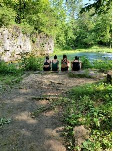 Friends sitting